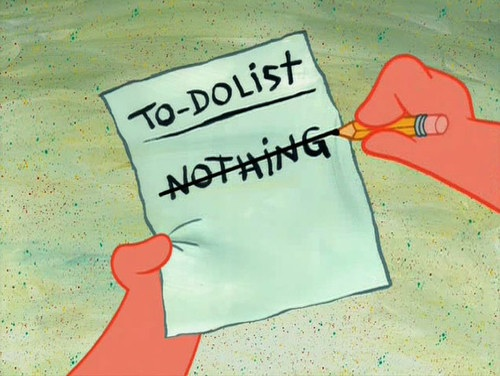 Grenglish to-do list