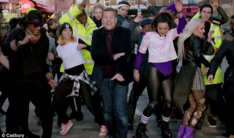 Sponsored Video: James Corden Dances in the Street & Lip-Syncs to Estelle's Free